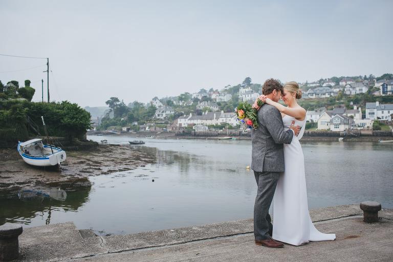 Colourful Devon marquee wedding: Helen & Sheppy get married in Noss Mayo